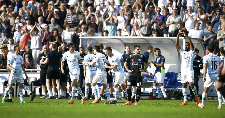 Alka Superliga-kampen mellem FC Helsingør og Silkeborg IF på Helsingør Stadion, torsdag den 17. maj 2018. (Foto: Philip Davali/Scanpix 2018)