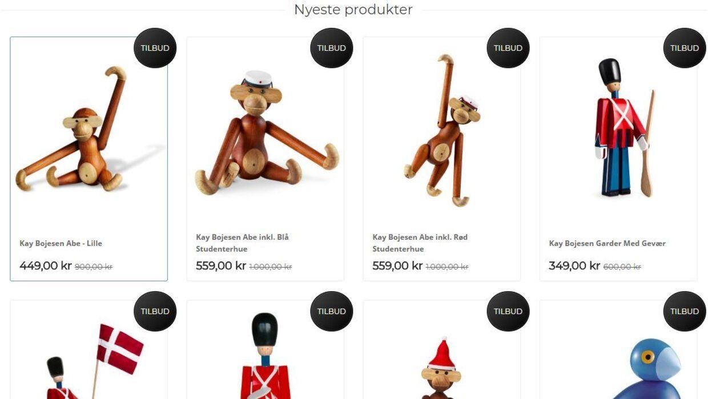 Den nu lukkede hjemmeside Designfamilie.com solgte også billigt Kay Bojesen-design. Den ligner den nye hjemmeside luksusbolig.com på en prik.