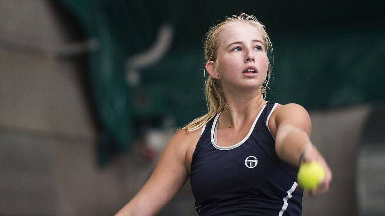 Clara Tauson har gang i en god turnering i Milano.
