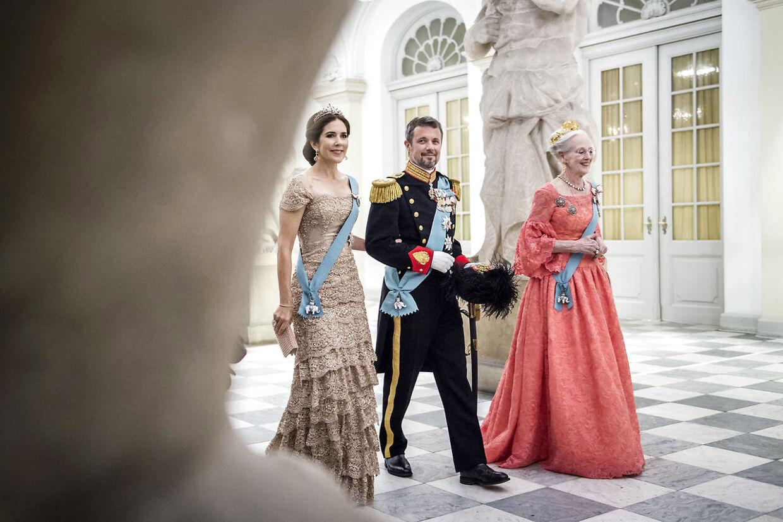 Gallataffel på Christiansborg Slot i anledning af H. K. H. Kronprinsens 50-års fødselsdag den 26. maj 2018.
