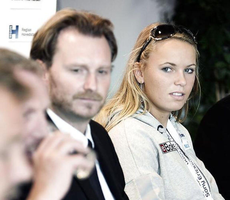 Mikkel Nissen, til venstre, har rådgivet Caroline Wozniacki de seneste 14-15 år.