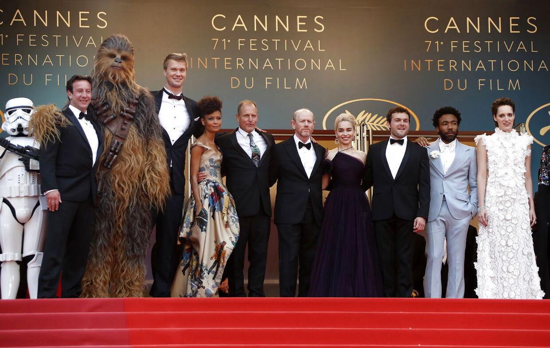 'Han Solo'-holdet til premieren i Cannes.