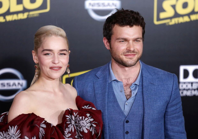 'Game of Thrones'-stjernen Emilia Clarke og Alden Ehrenreich har hovedrollerne i den aktulle Han Solo-film.