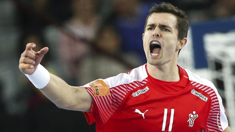 Rasmus Lauge blev kåret til årets mandlige landsholdsspiller til Dansk Håndbold Awards i Viborg.