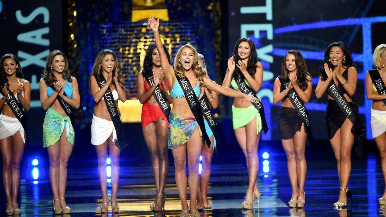 Her et billede fra bikinikonkurrencen til 2017-versionen af Miss America. Det bliver altså også den sidste af slagsen, annoncerede skønhedskonkurrencen i dag.