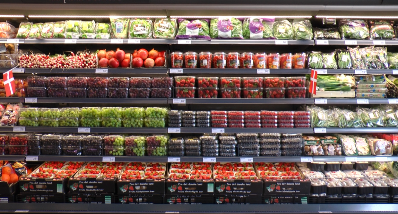 I Nettos nye butikker er der særligt fokuseret på frugt og grønt.