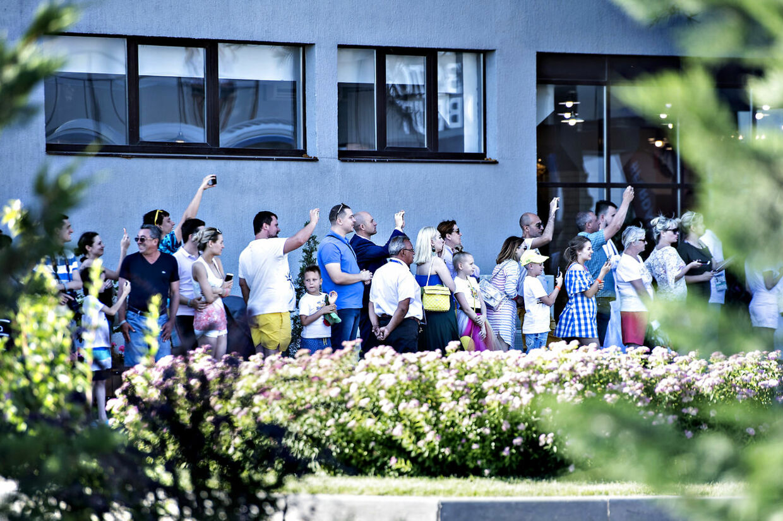 VM 2018 Rusland. Spillerne ankommer til Beton Brut Hotel hvor det danske fodboldlandshold opholder sig under VM.