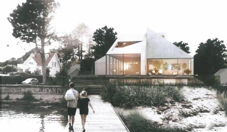 Sådan kommer Jan Leth Christensens villa til at se ud, når den er bygget færdig om halvandet til to år.