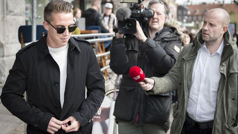 Nicki Bille har tidligere været i retten, her i 2015. Efter en bytur i København blev fodboldspilleren anholdt, da han havde sparket til en cykel og en parkeringsautomat og gjort modstand mod politiets anholdelse. Bille fik en betinget fængselsdom på 60 dage.