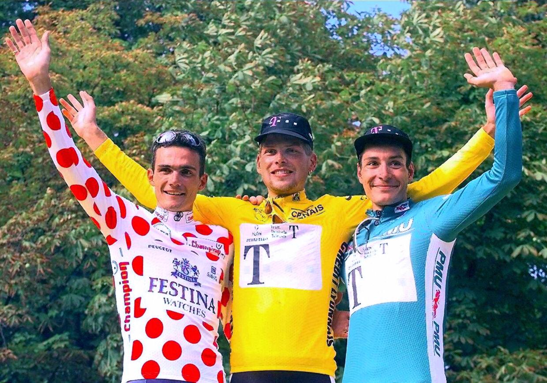 Jan Ullrich hyldes som Tour de France-vinder i 1997.