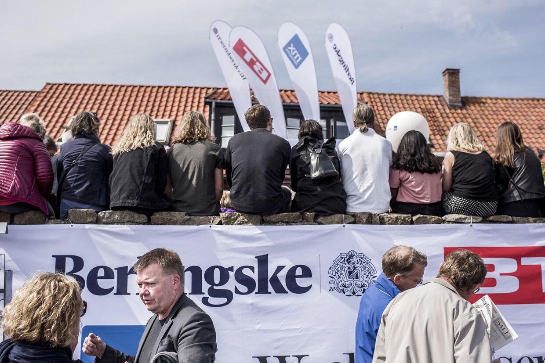 Berlingske og BTs folkemødestand sidste år var også et tilløbsstykke.