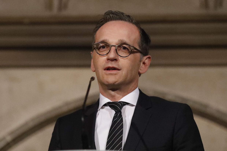 I sin første store politiske tale fremhæver Tysklands nye udenrigsminister, Heiko Mass, at EU må samarbejde med USA, hvor det er muligt, og at EU må udfylde pladser på områder, hvor USA trækker sig tilbage. Frank Augstein/Ritzau Scanpix