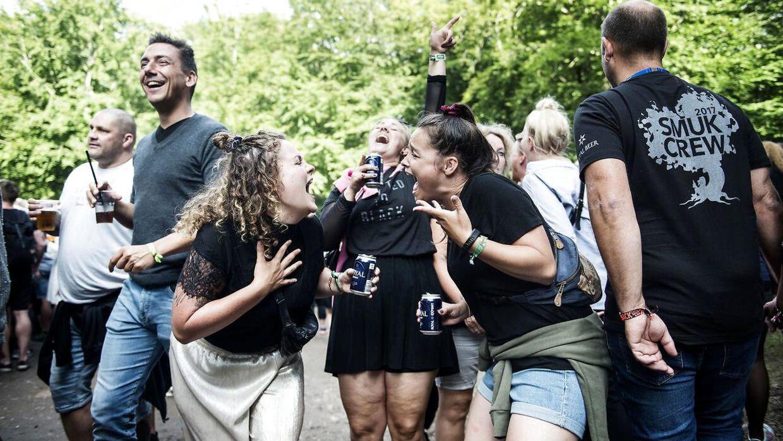 God stemning på Smukfest i Skanderborg onsdag d. 9 august 2017.