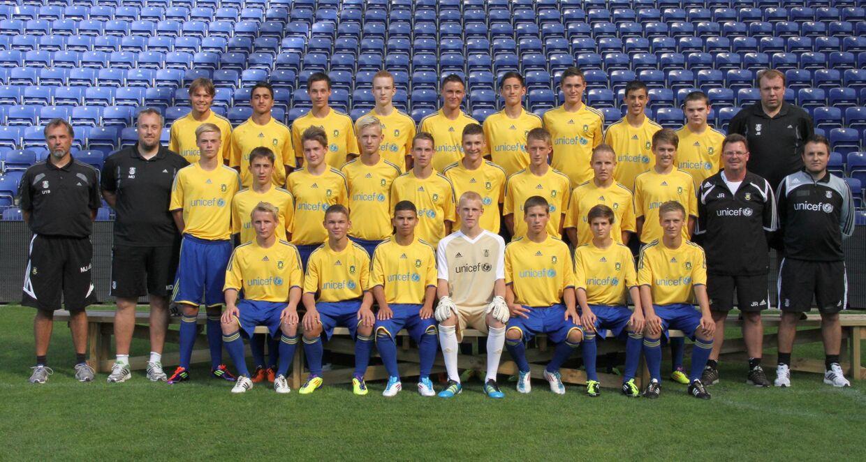 Brøndbys U/17-hold i 2011. Kevin Andreasen står i midterste række som nummer fem fra højre. VM-landsholdets centrale forsvarsspiller, Andreas 'AC' Christensen, står bagest som nummer fire fra højre.