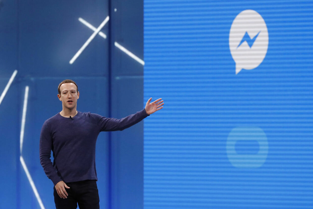 Facebooks CEO, Mark Zuckerberg, er øverste chef for Messenger. Arkivfoto