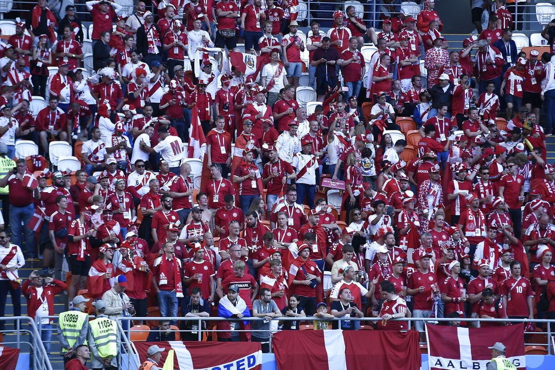 Danmark-Peru på Mordovia Arena i Saransk lørdag den 16juni 2018