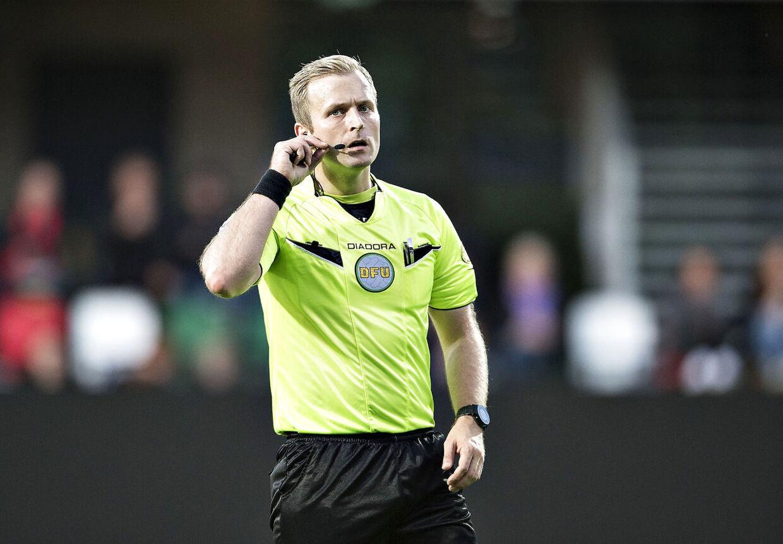 Mikkel Redder erstatter Dennis Mogensen som dommer i Superligaen. (foto: Henning Bagger / Scanpix 2017)