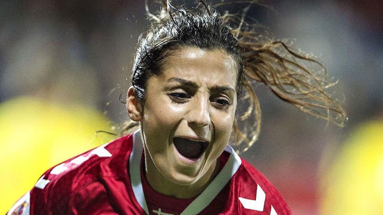 Nadia Nadim har været populær som ekspert under VM.