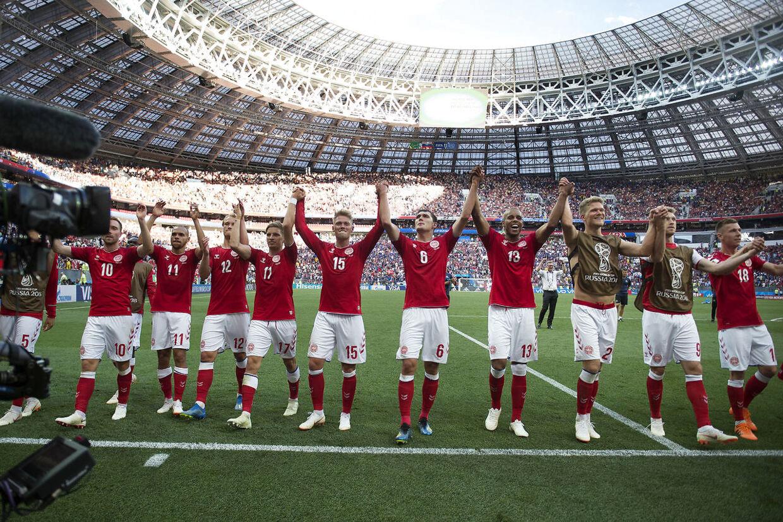 Efter kampen mellem Danmark-Frankrig på Luzhniki Stadion i Moskva tirsdag den 26 juni 2018. (Foto: Liselotte Sabroe/Scanpix 2018)