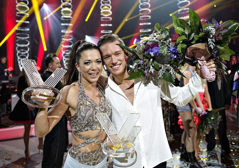 Sarah Mahfoud med partneren Morten Kjeldgaard.