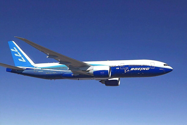 Det er et fly af denne type, et Boieng 777 fra British Airways, som måtte lande i Københavns Lufthavn.