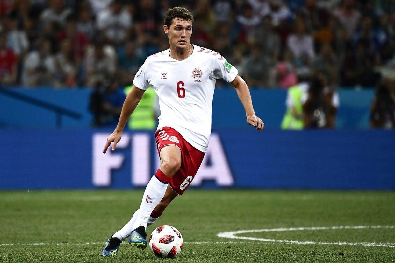 Andreas Christensen i VM-kampen mod Kroatien.