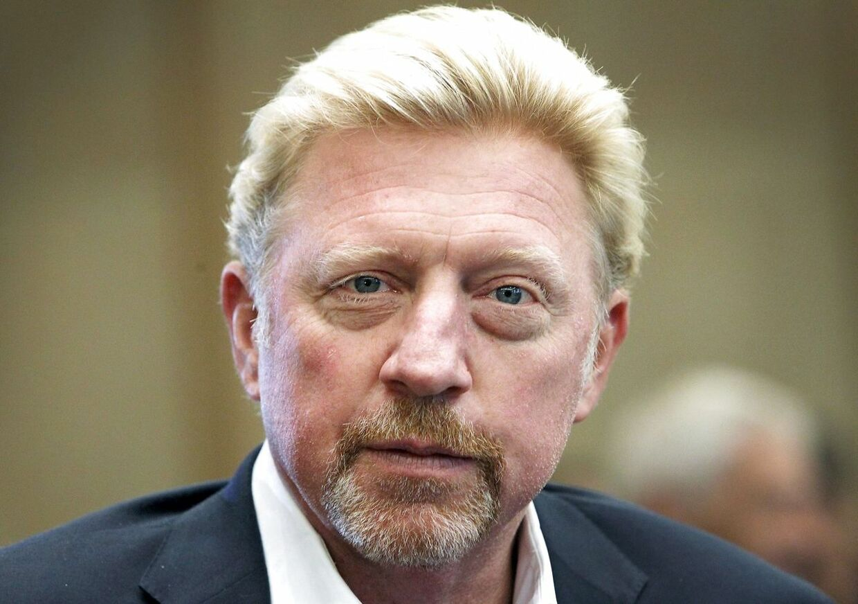 (FILES) In this file photo taken on August 23, 2017, former German tennis player Boris Becker addresses the media during a news conference of the German Tennis Federation DTB in Frankfurt, Germany. Three-time Wimbledon champion Boris Becker is claiming diplomatic immunity from ongoing bankruptcy proceedings in the UK on the basis that he is an ambassador for the Central African Republic, British media reported June 15, 2018. / AFP PHOTO / Daniel ROLAND