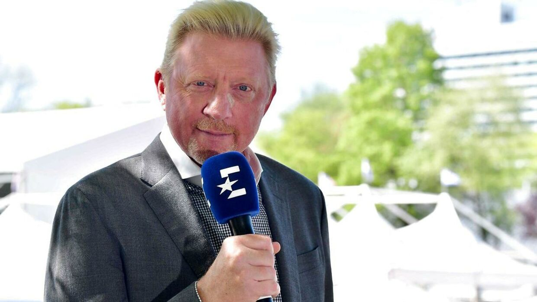 Boris Becker på tv.