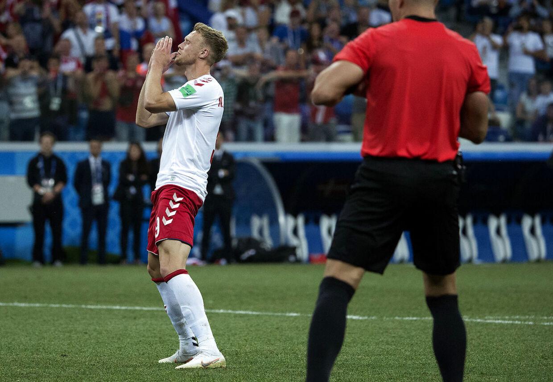 Nicolai Jørgensen brænder straffe under 1/8 finalen mellem Danmark-Kroatien på Nizhny Novgorod Stadium den 1 juli 2018. (Foto: Liselotte Sabroe/Ritzau Scanpix)