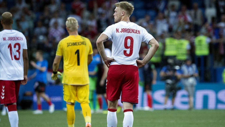 Nicolai Jørgensen fik en uheldig og ærgerlig hovedrolle mod Kroatien.