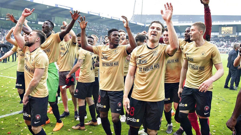 FC Midtjylland blev danske mestre sidste sæson.