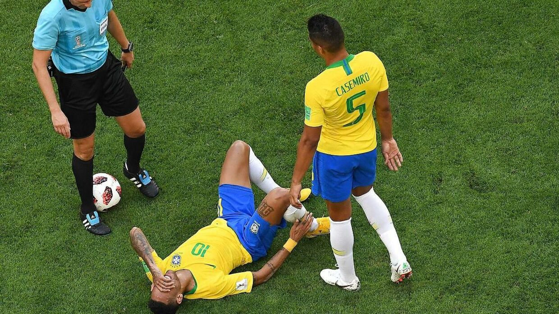 Neymar efter en nærkamp.