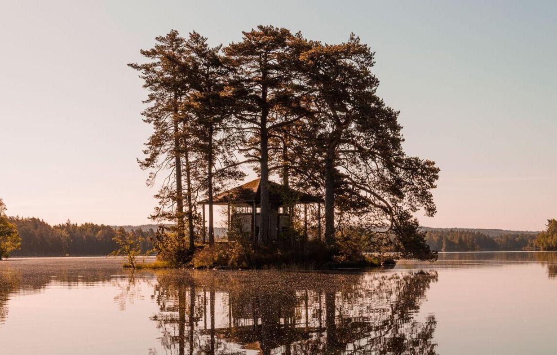 På en øde ø i en sø i Småland, kan man komme langt væk fra hverdagen. Foto: Sarah Green