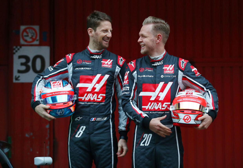 Romain Grosjean og Kevin Magnussen ligger lunt i svinget til at levere endnu en god præstation ved det britiske grandprix i weekenden.