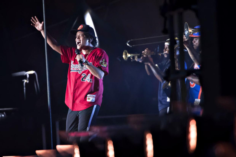 Bruno Mars på Orange Scene ved Roskilde Festival, torsdag den 5. juli 2018.