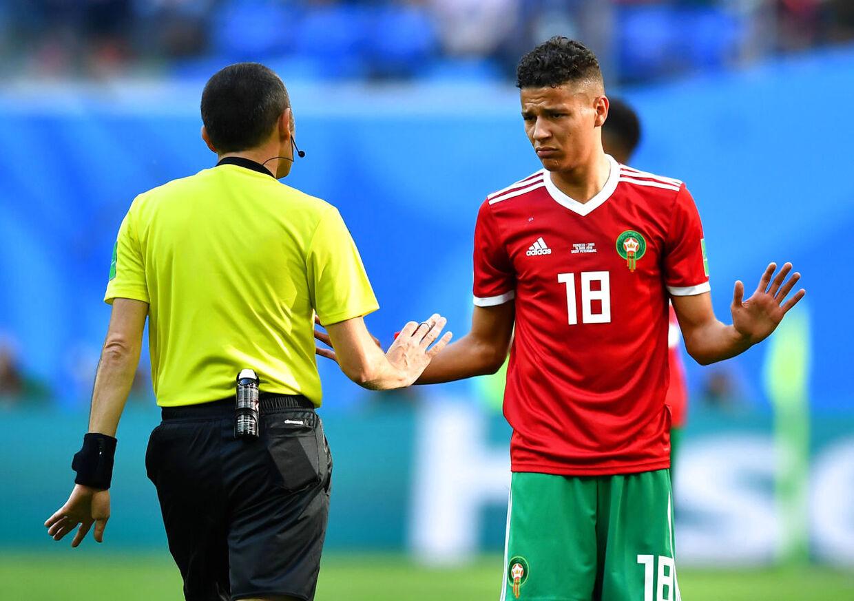 Amine Harit var på banen for Marokko under VM. Han spiller til daglig i tyske Schalke 04.