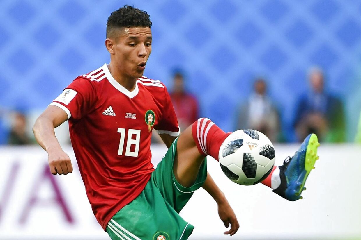 Amine Harit i aktion under VM.