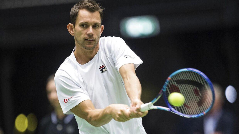 Frederik Løchte er stadig med i Wimbledon.