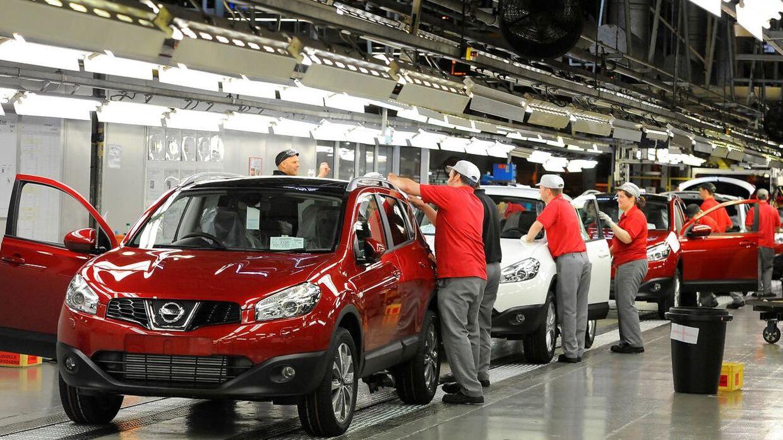 Også Nissan erkender nu at have snydt med bilernes udledning på næsten alle fabrikker i Japan. Her ses et billede fra en af bilproducentens engelske fabrikker.