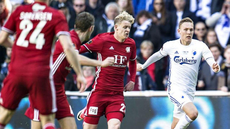Jens Odgaard scorede tre gange i Superligaen, inden Inter slog til.