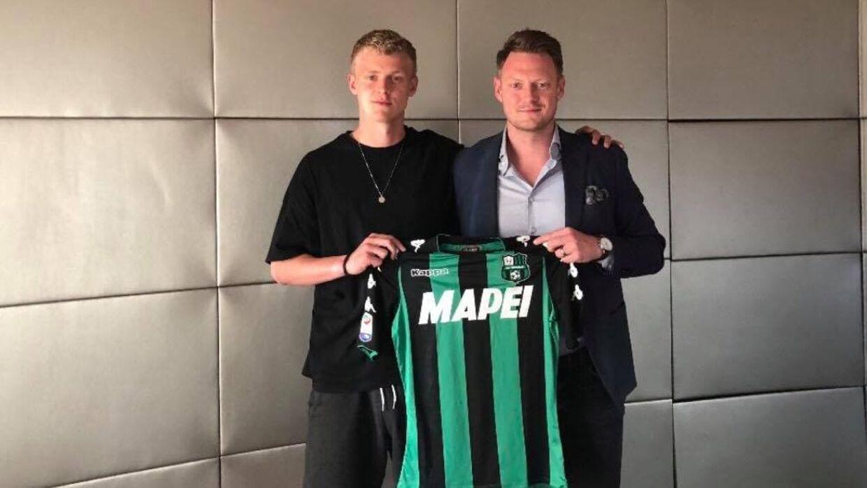Jens Odgaard med sin agent Simon Friis.