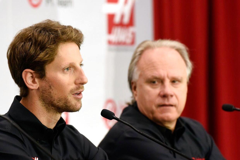 Teamejer Gene Haas til højre skal have styr på kørerne efter denne weekend. (Jared C. Tilton/Stewart-Haas Racing via Getty Images/AFP)