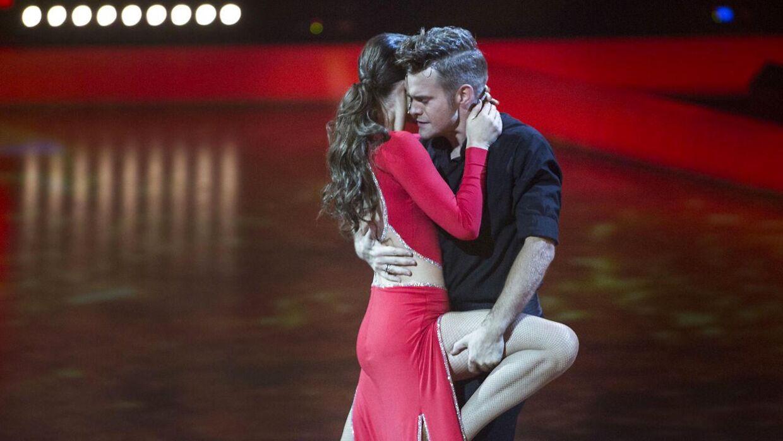Her ses Silas Holst med sin dansepartner Sara Maria Franch-Mærkedahl i 2014