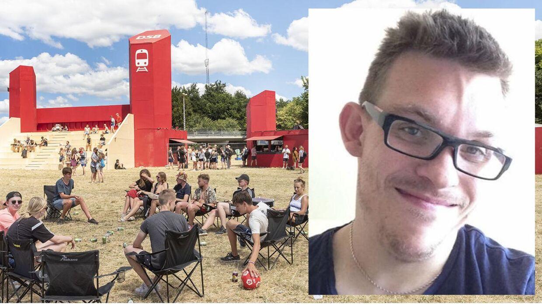 Turen hjem fra Roskilde Festival blev meget lang for Søren Meinertz, der som kørestolsbruger måtte vente næsten to timer i Langå.