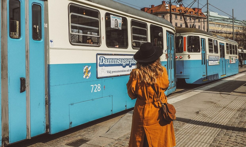 Spovognene kører stadig i Göteborg, og giver en både hyggelig og smuk tur rundt i den historiske by. Foto: Juila Cathrine This
