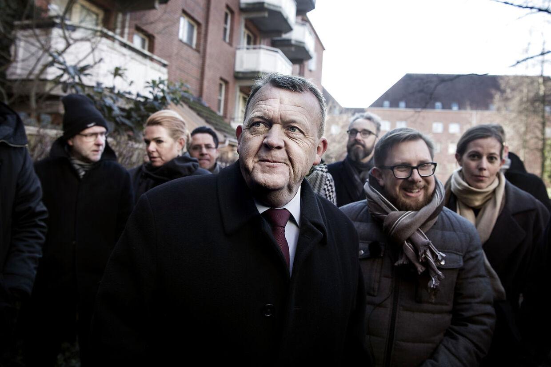 Statsminister Lars Løkke Rasmussen og en række af hans ministre var den 1. marts i Mjølnerparken på Nørrebro for at præsentere det såkaldte ghetto-udspil