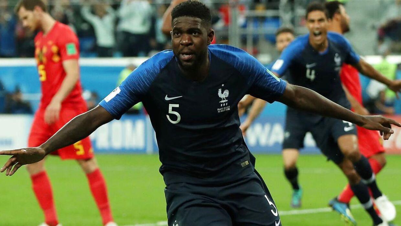 Samuel Umtiti scorede målet til 1-0 og spillede en solid kamp i det franske midterforsvar.