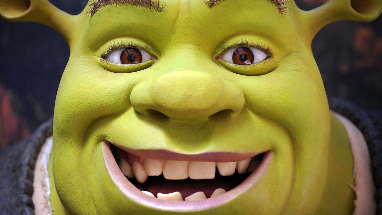 Arkivfoto. Trolden Shrek fra den populære animationsfilm af samme navn.