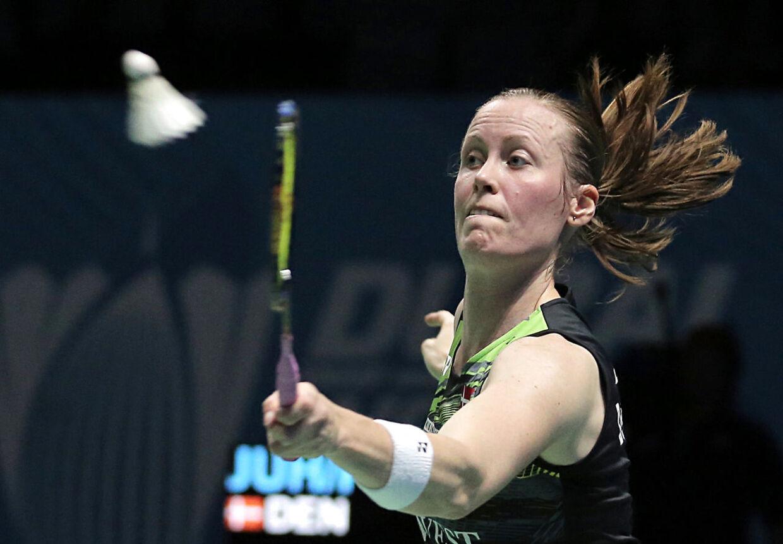 Kamilla Rytter Juhl, billedet, vandt sammen med sin kæreste og faste makker på badmintonbanen, Christinna Pedersen, damedoublerækken ved marts måneds All England-turnering i Birmingham.