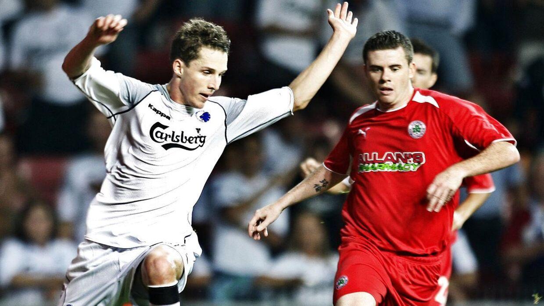 Den tidligere FC Nordsjælland-angriber Morten Nordstrand var med, da FC København lammetævede Cliftonville FC.